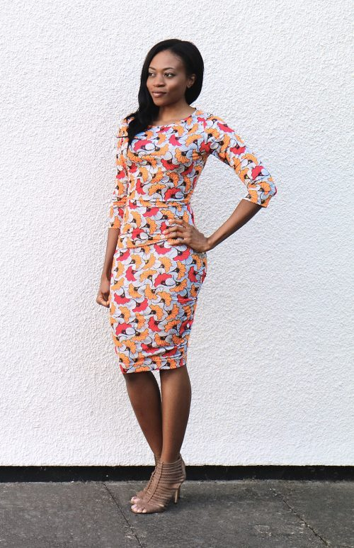 STRETCH AFICAN PRINT DRESS